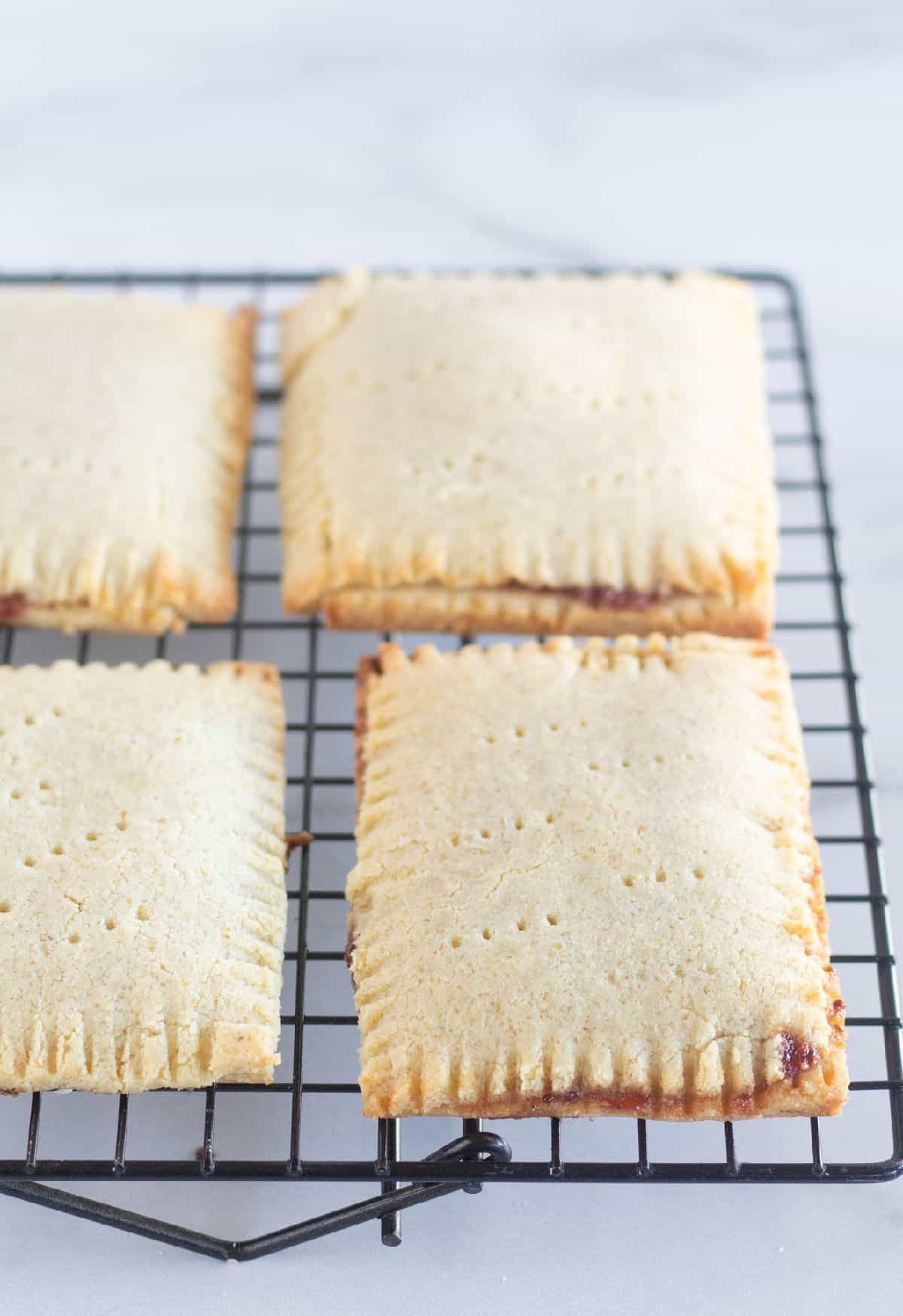 baked pop tarts on a cooling rack