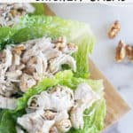 pinnable image of keto chicken salad with text