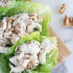 keto chicken salad in lettuce wraps