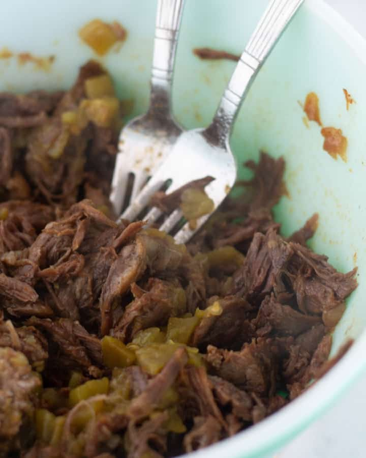 paleo, whole30, & paleo shredded beef in bowl