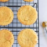 paleo cornbread muffins on cooling rack