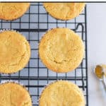 pinnable image of paleo cornbread muffins with text