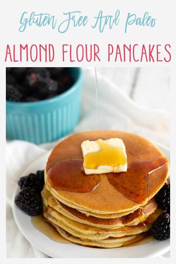 Pinnable image for almond flour pancakes