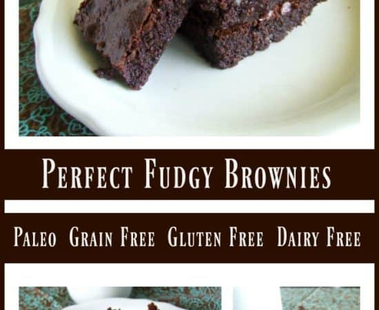 Perfect Fudgy Brownies {Grain Free & Paleo}