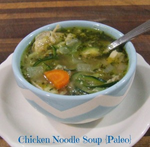 Homemade Chicken Noodle Soup {Paleo}