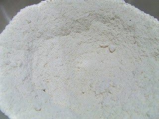 Dry Ingredients In White Bowl