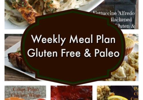 Weekly Gluten Free Meal Plan 4-19-2017