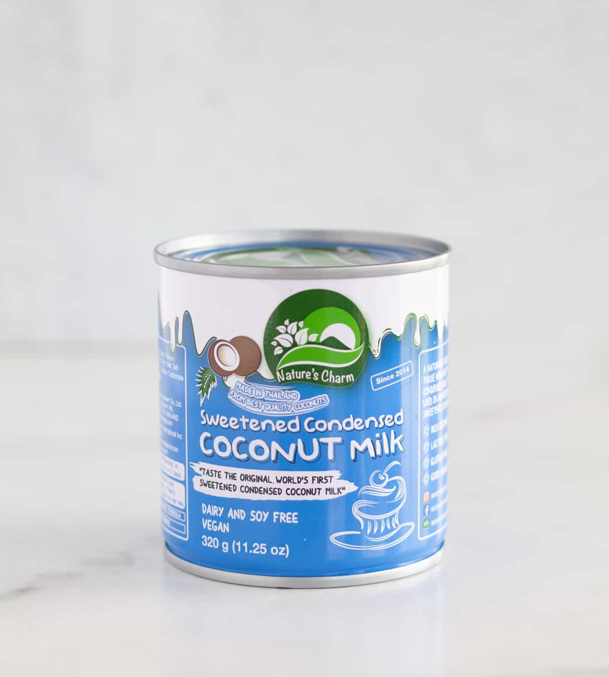 can of vegan sweetened condensed milk