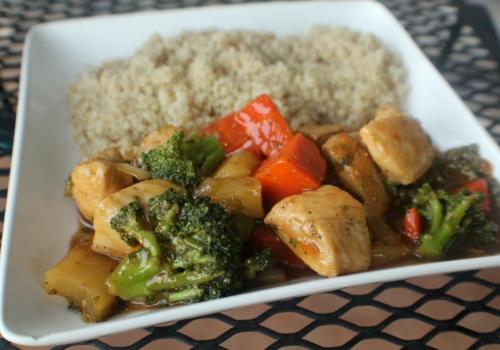 Gluten Free Teriyaki Chicken Stir Fry {Paleo, Gluten, & Grain Free}