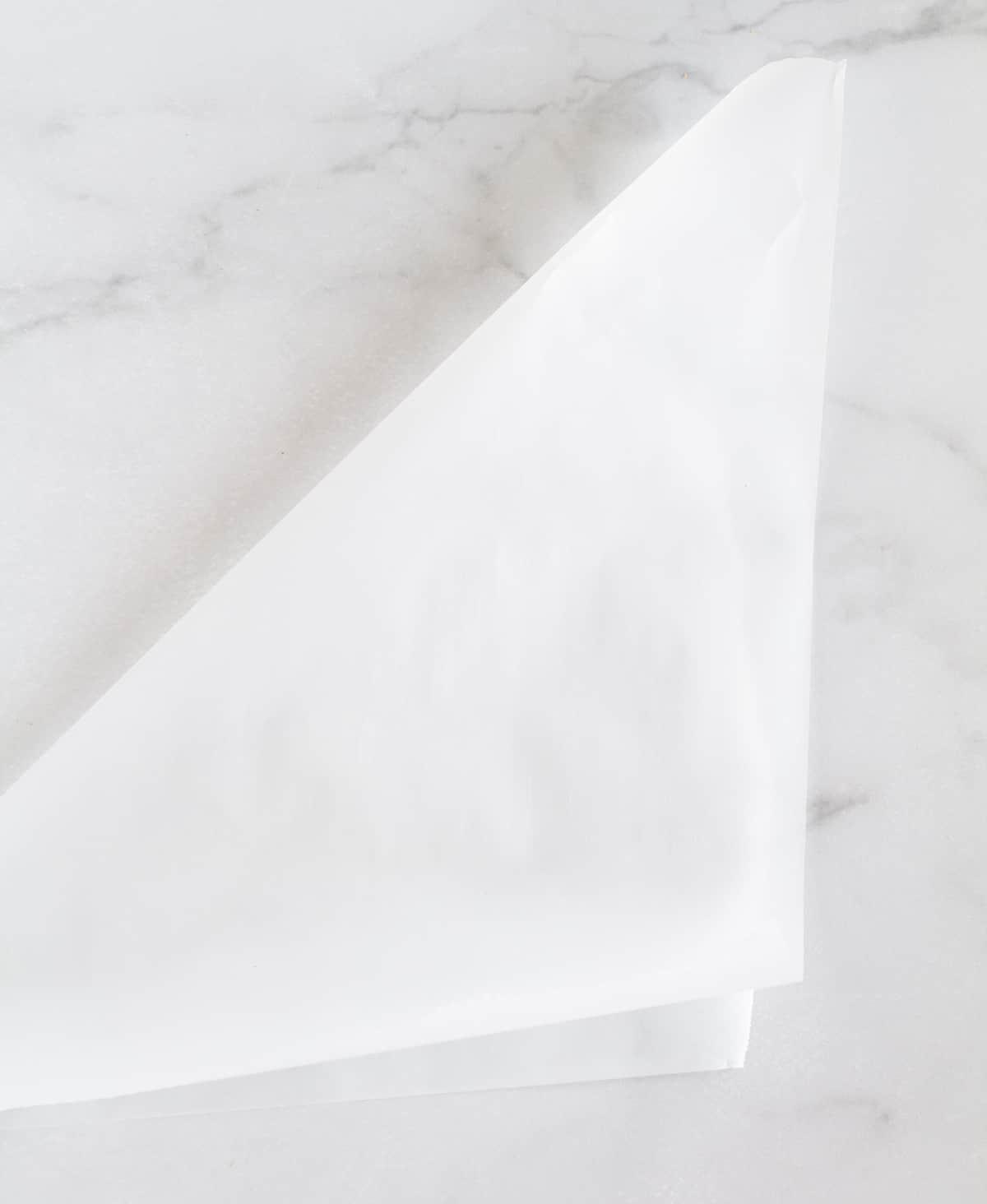 folded piece of parchment paper