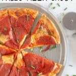 paleo pizza crust pin with text