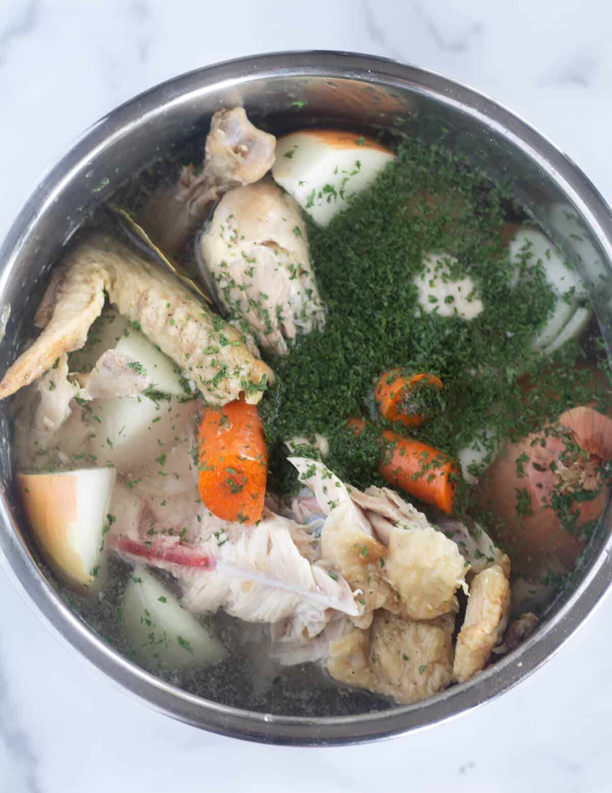 ingredients in instant pot