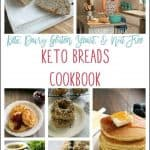keto breads cookbook pinnable image
