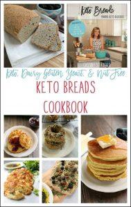 keto breads cookbook pinnable image