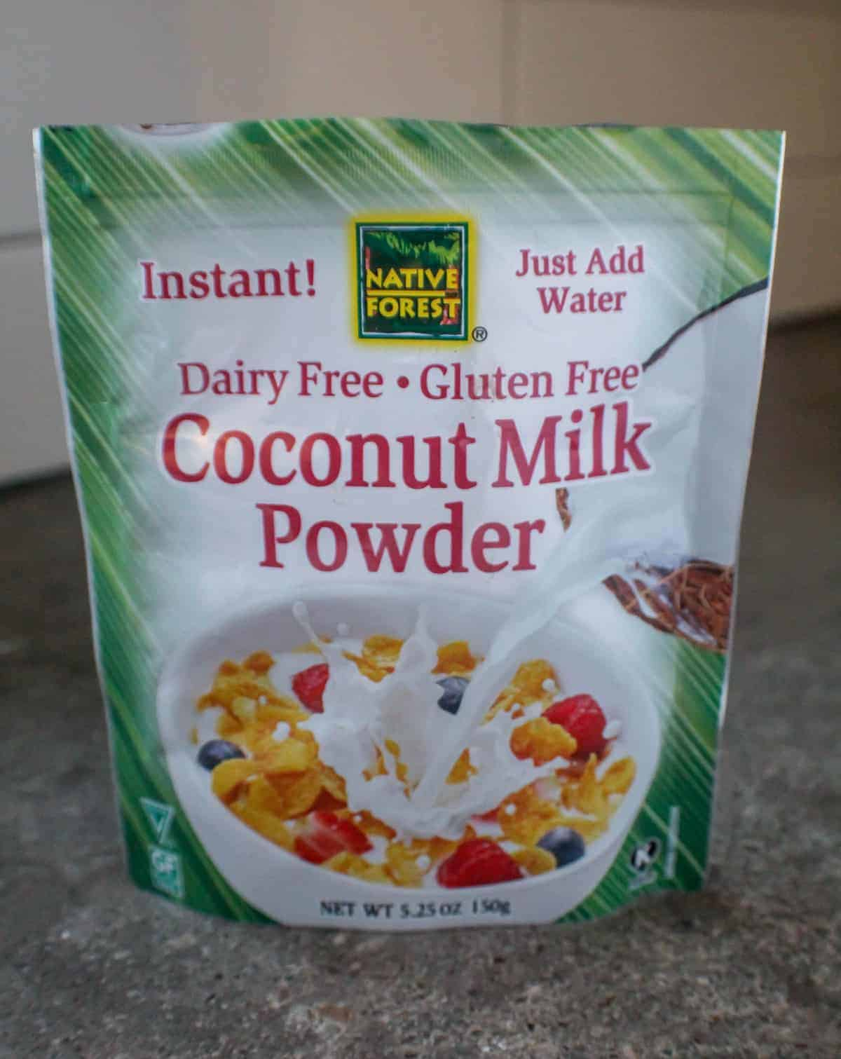 Bag of coconut milk powder