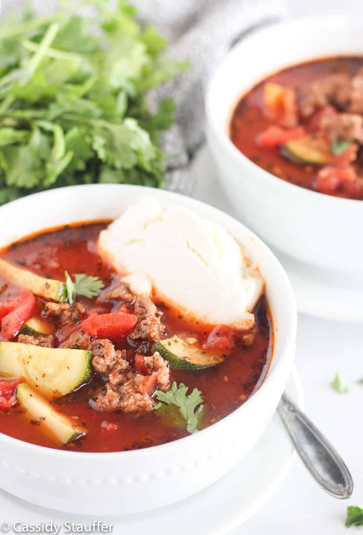 Lasagna Soup In Pot