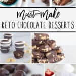 pinnable image of keto chocolate desserts with text