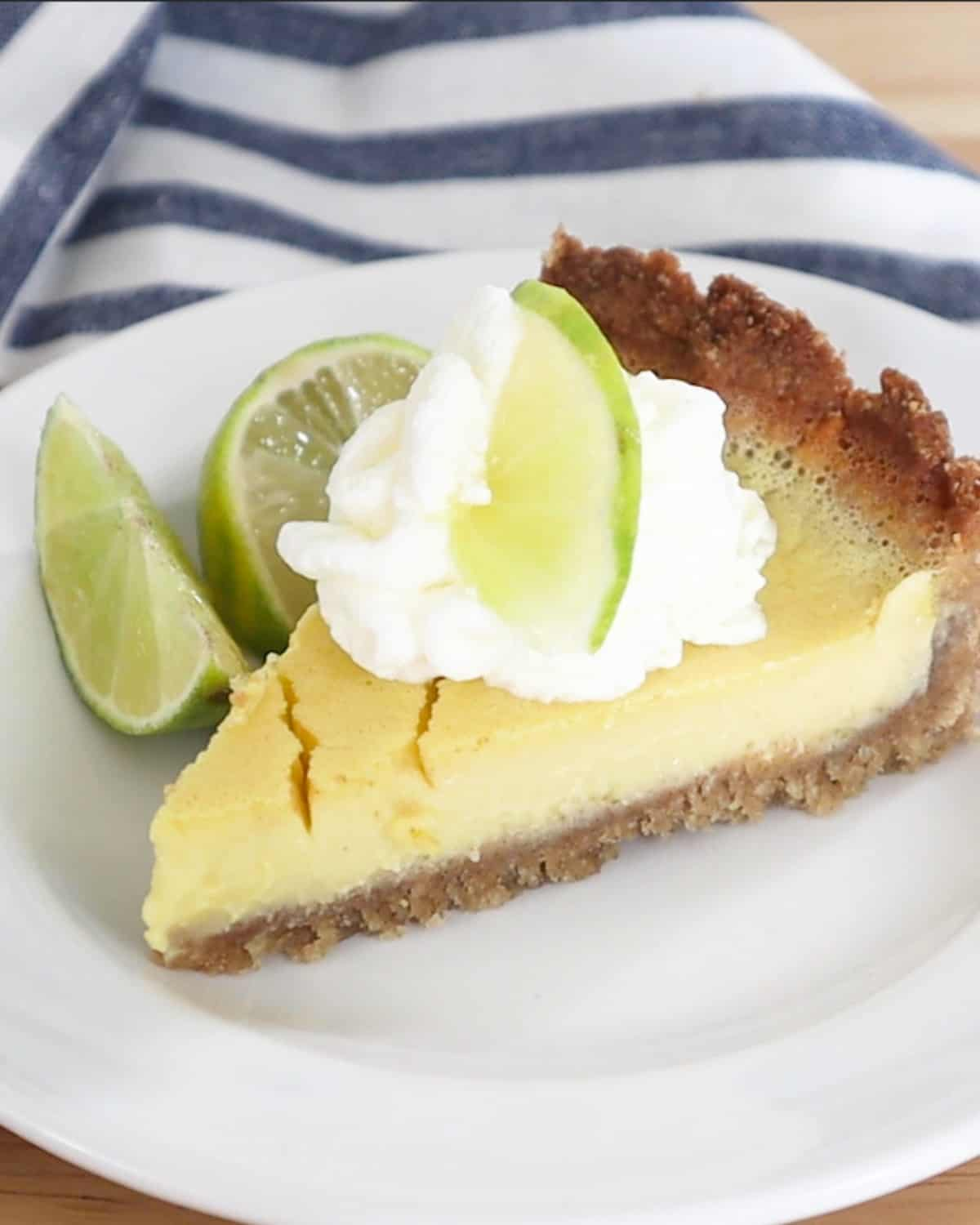 slice of pie with whipped cream and pie
