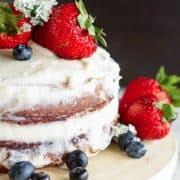 close of cake