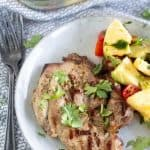 pork chops with cilantro and pineapple salsa