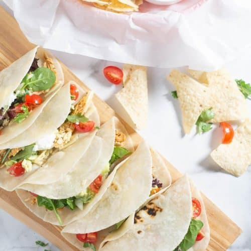 square image of ranch keto tacos