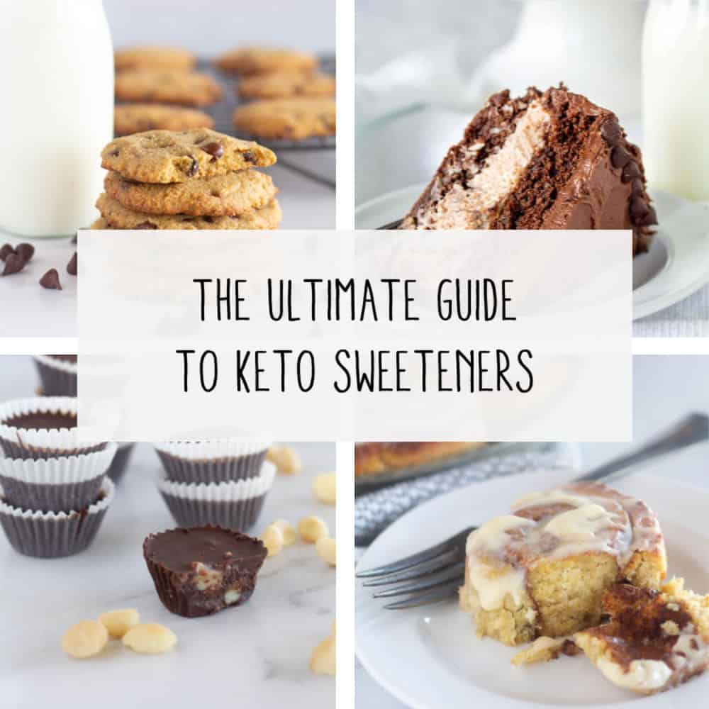 collage of keto desserts with text