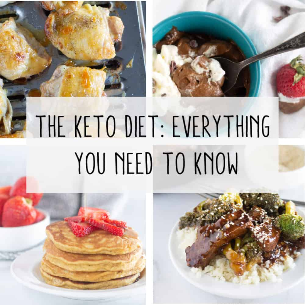 collage of keto recipes with text
