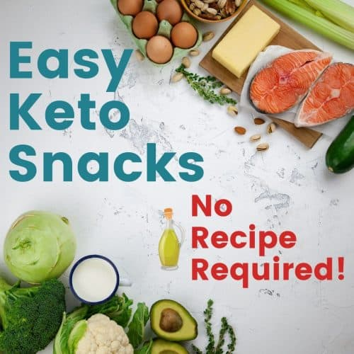 keto foods with text