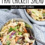 Thai salad with text