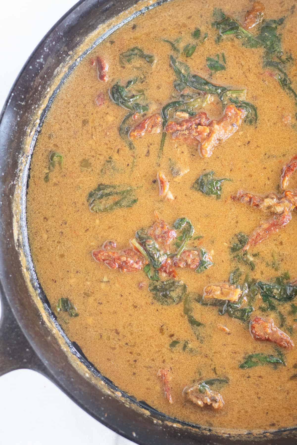 sauce in skillet