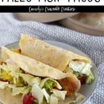 pin for paleo fish tacos with text