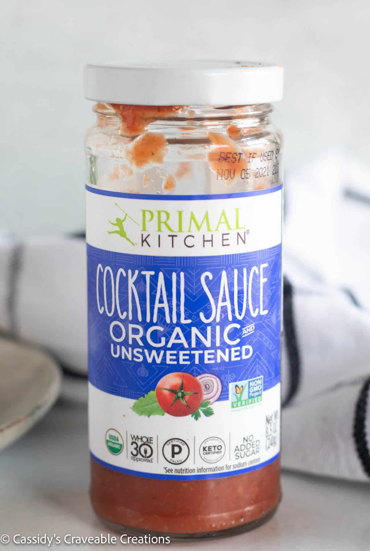 bottle of primal kitchen cocktail sauce