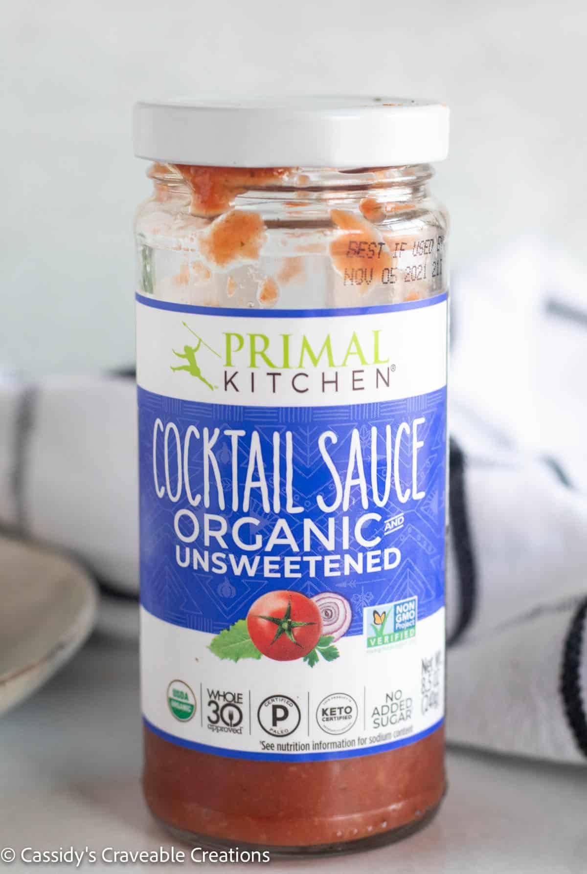 bottle of primal kitchen cocktail sauce